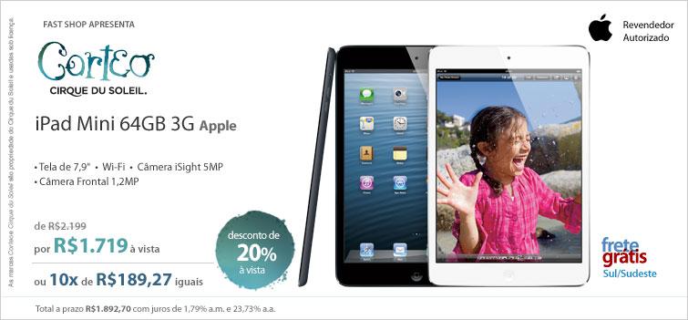 iPad mini em oferta na Fast Shop