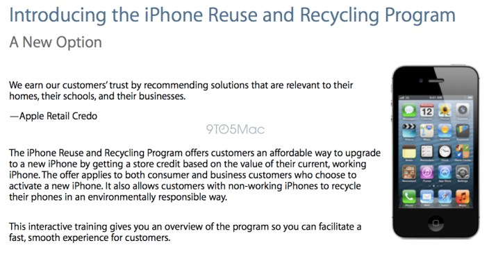 Programa de troca de iPhones, da Apple