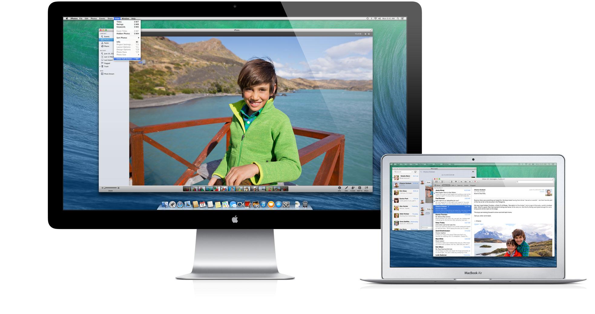 Múltiplos displays no OS X Mavericks