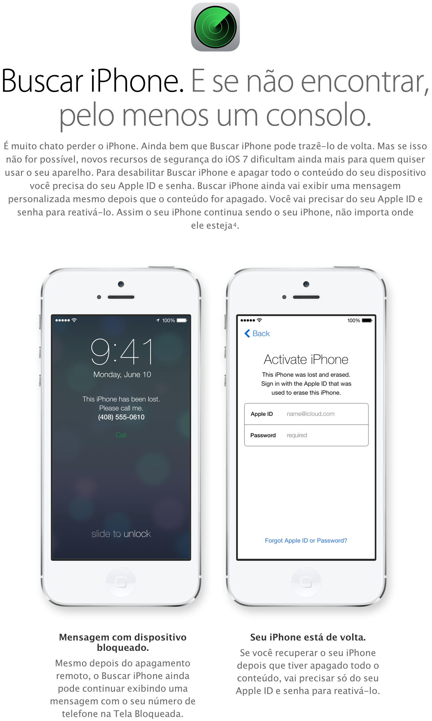 Buscar Meu iPhone (iOS 7)