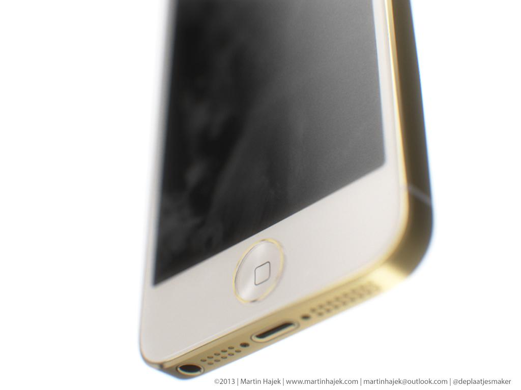 Mockup de iPhone 5S com novo botão Home