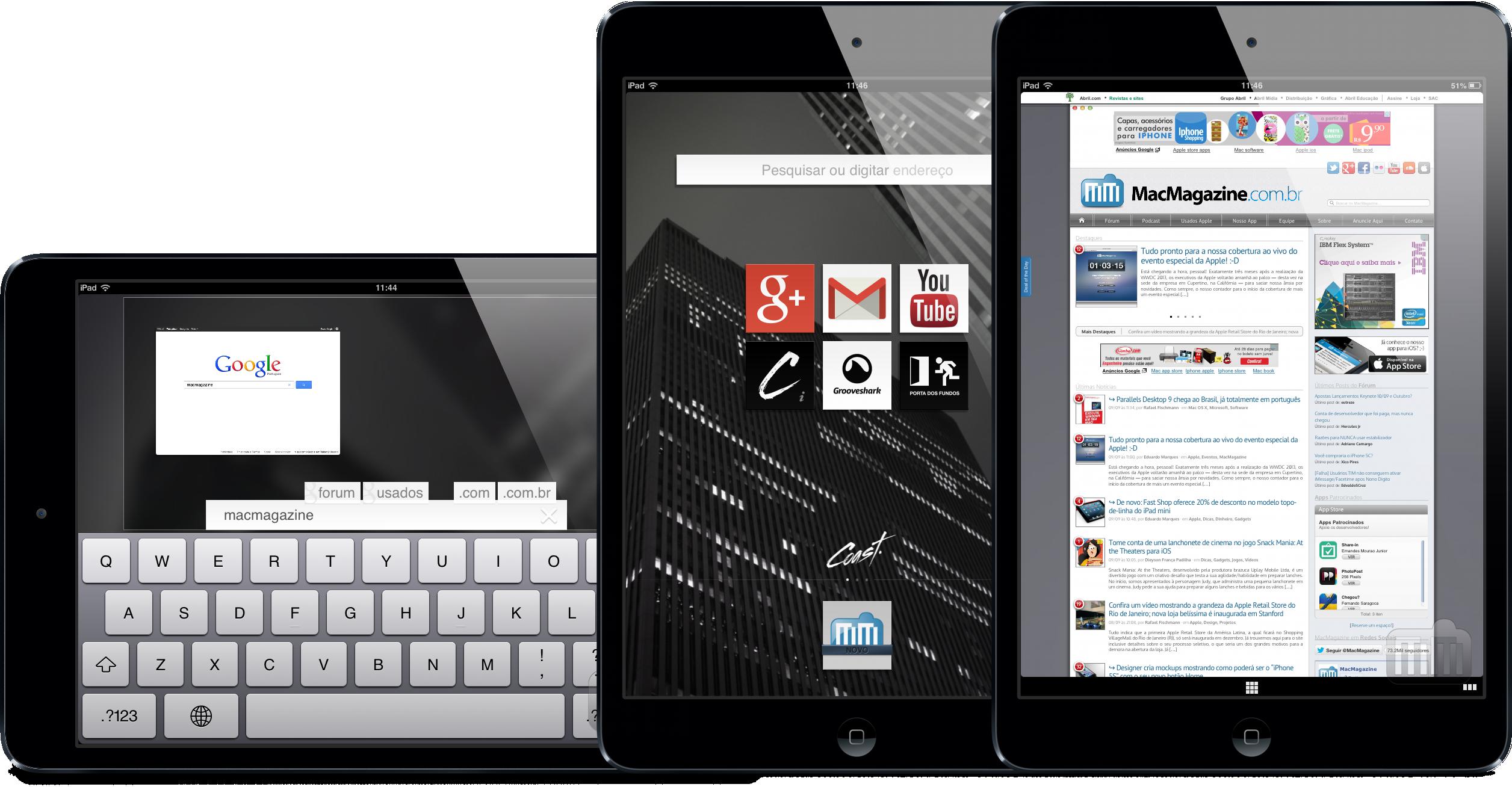 App Coast para iPads