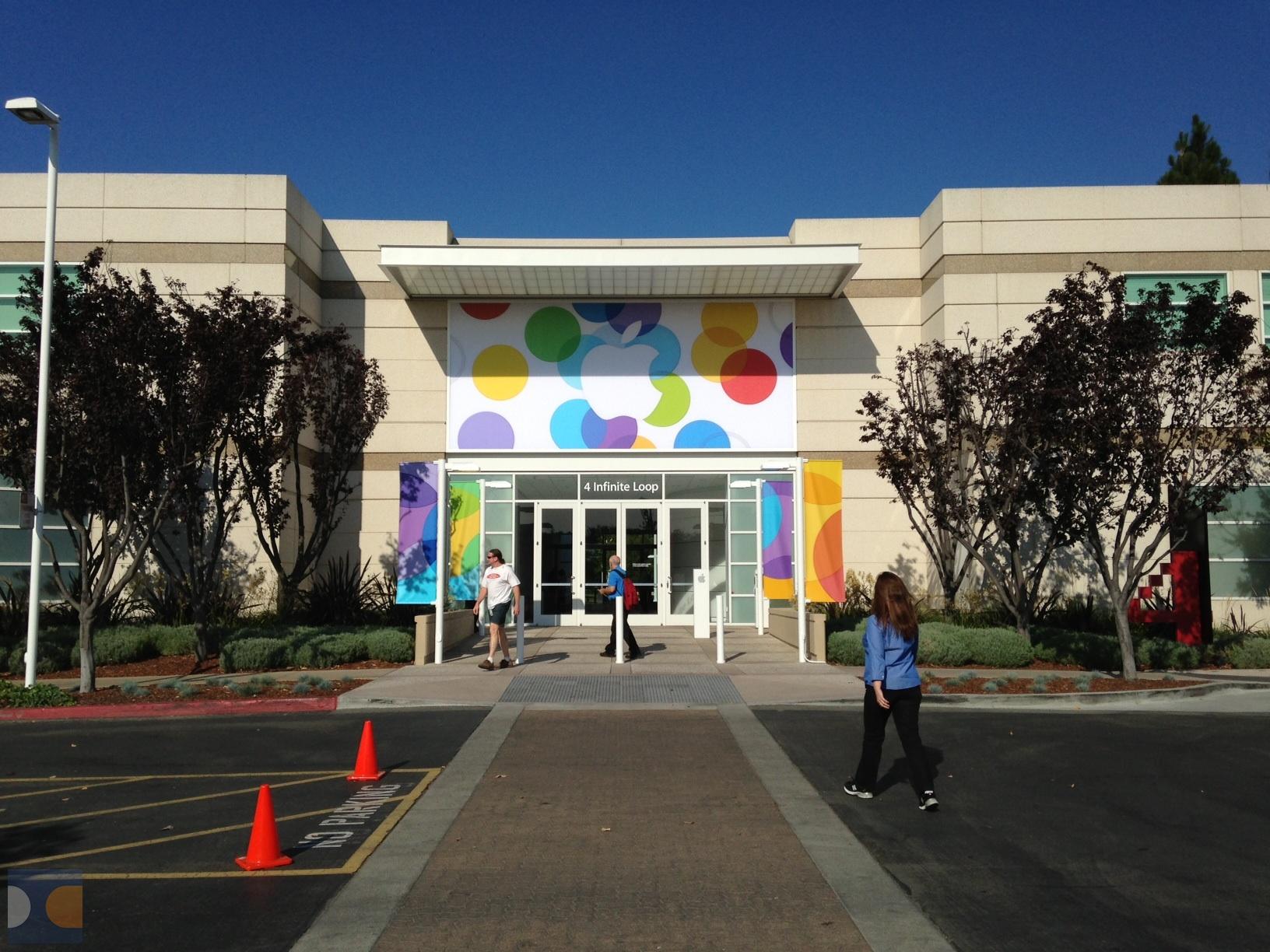 Sede da Apple pronta pro evento especial
