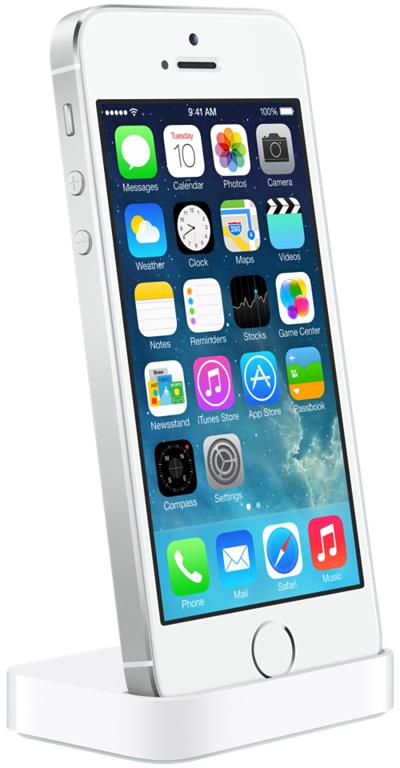 iPhone 5s no dock