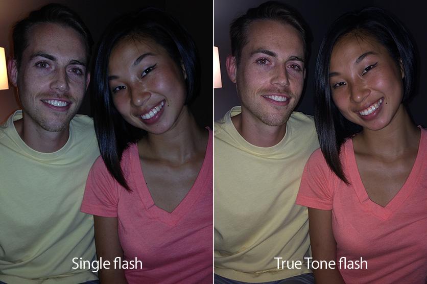 Comparativo de fotos com flash