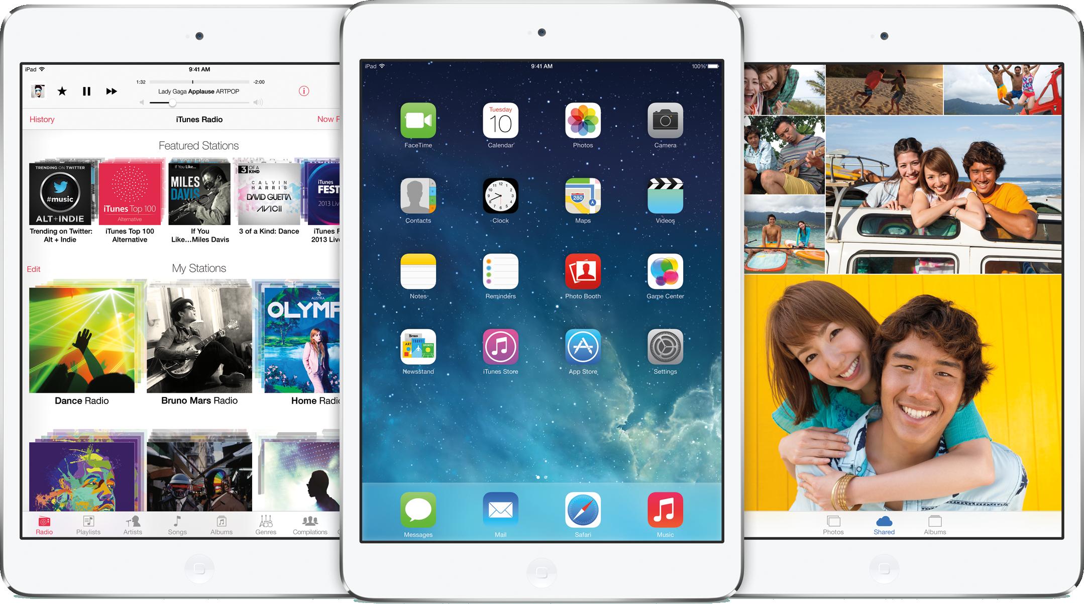 iOS 7 em iPads mini