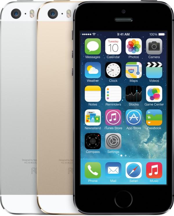 Cores dos iPhones 5s