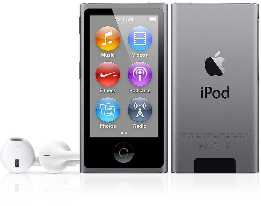 iPod nano na cor cinza espacial