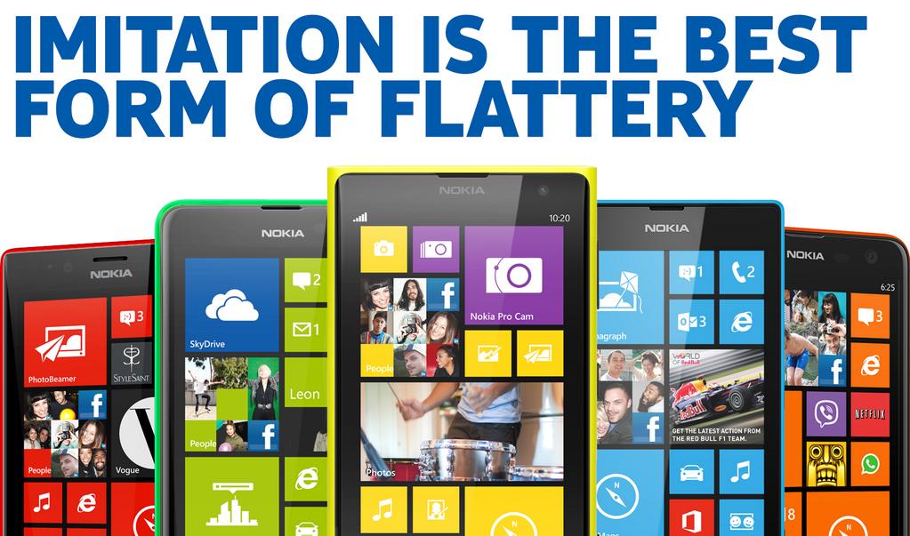 Nokia sobre iPhones coloridos