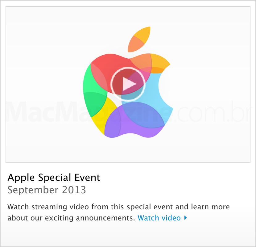 Vídeo do evento especial da Apple