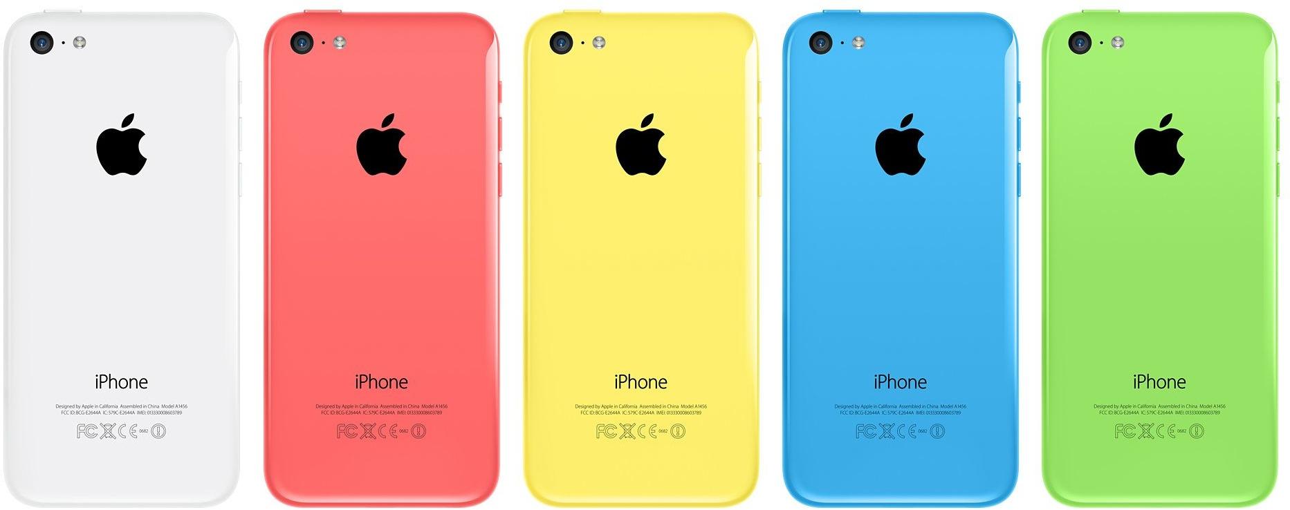 Traseira dos iPhones 5c