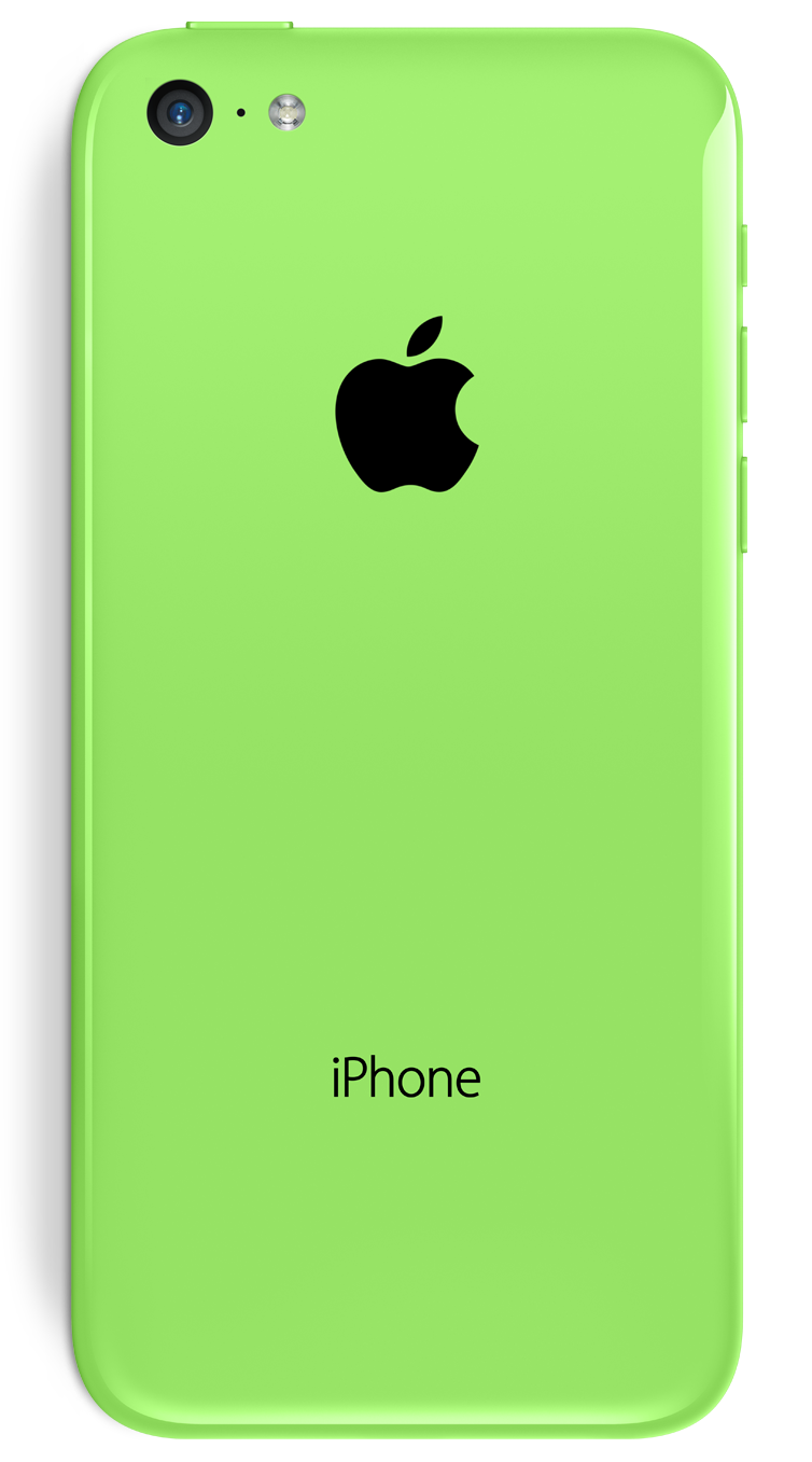 Traseira do iPhone 5c verde