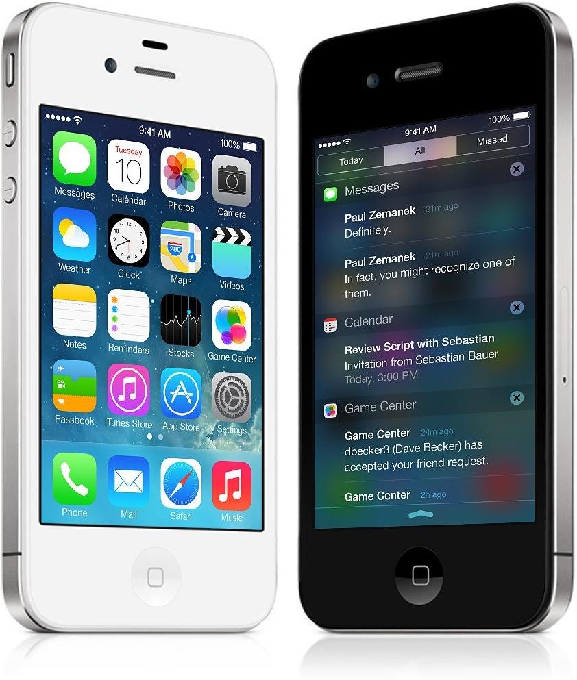 iPhone 4 com iOS 7