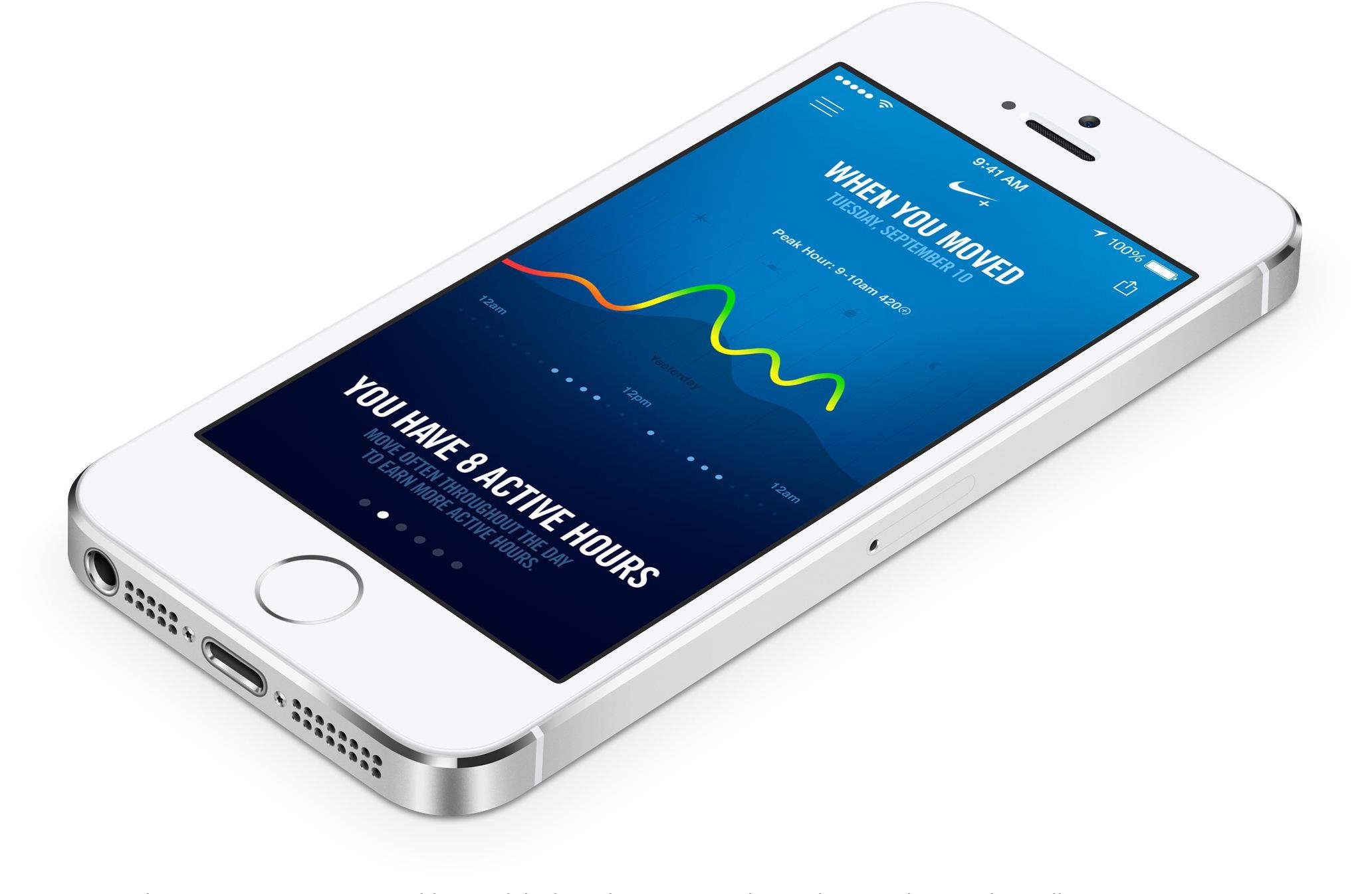 iPhone 5s rodando novo app da Nike