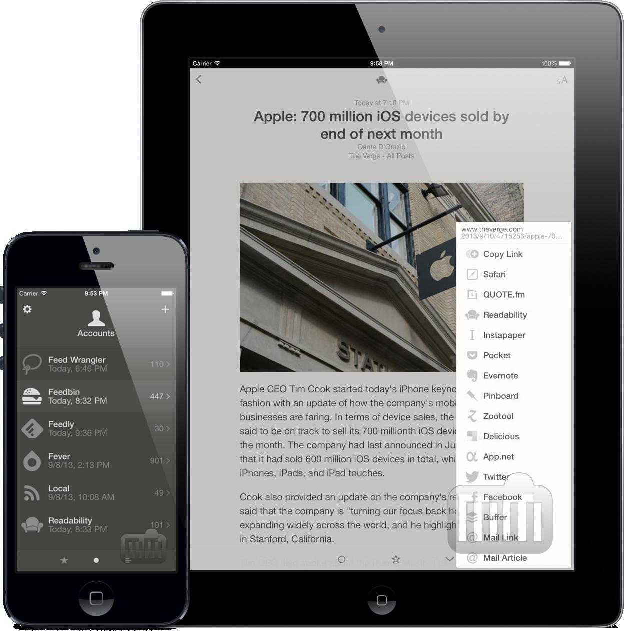 App Reeder 2 para iOS