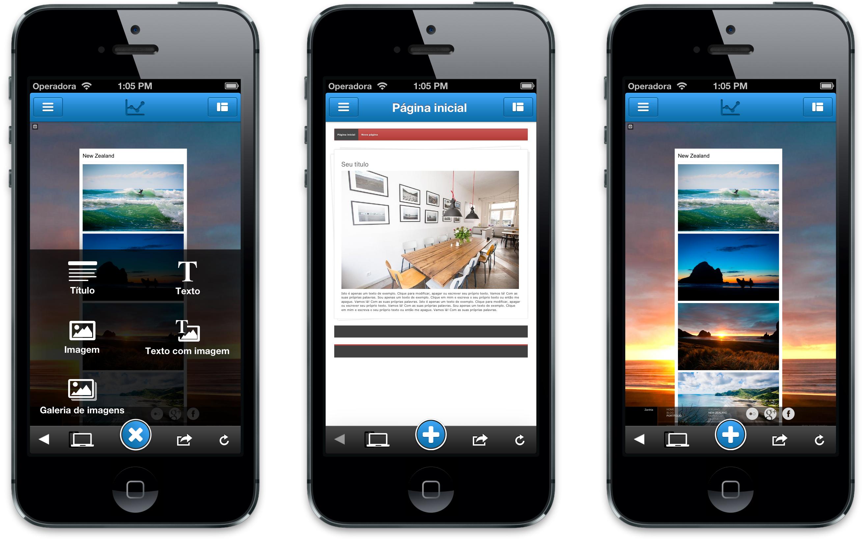 App Jimdo para iOS
