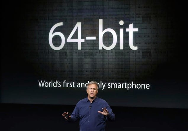 Phil Schiller apresentando o A7 com 64 bits