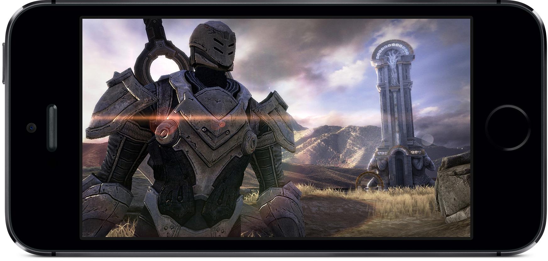 Infinity Blade III rodando no iPhone 5s