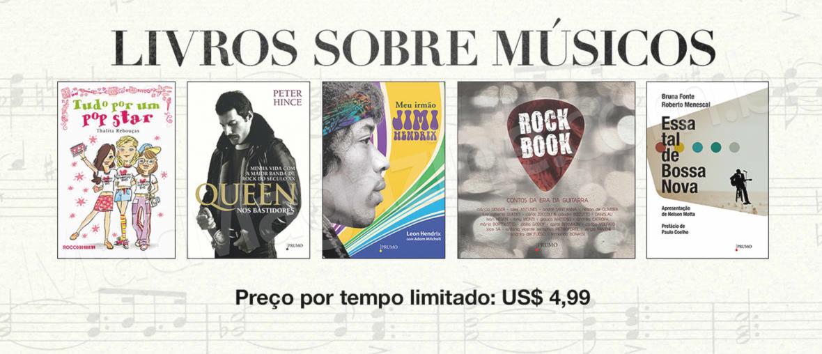 Livros sobre músicos em promoção