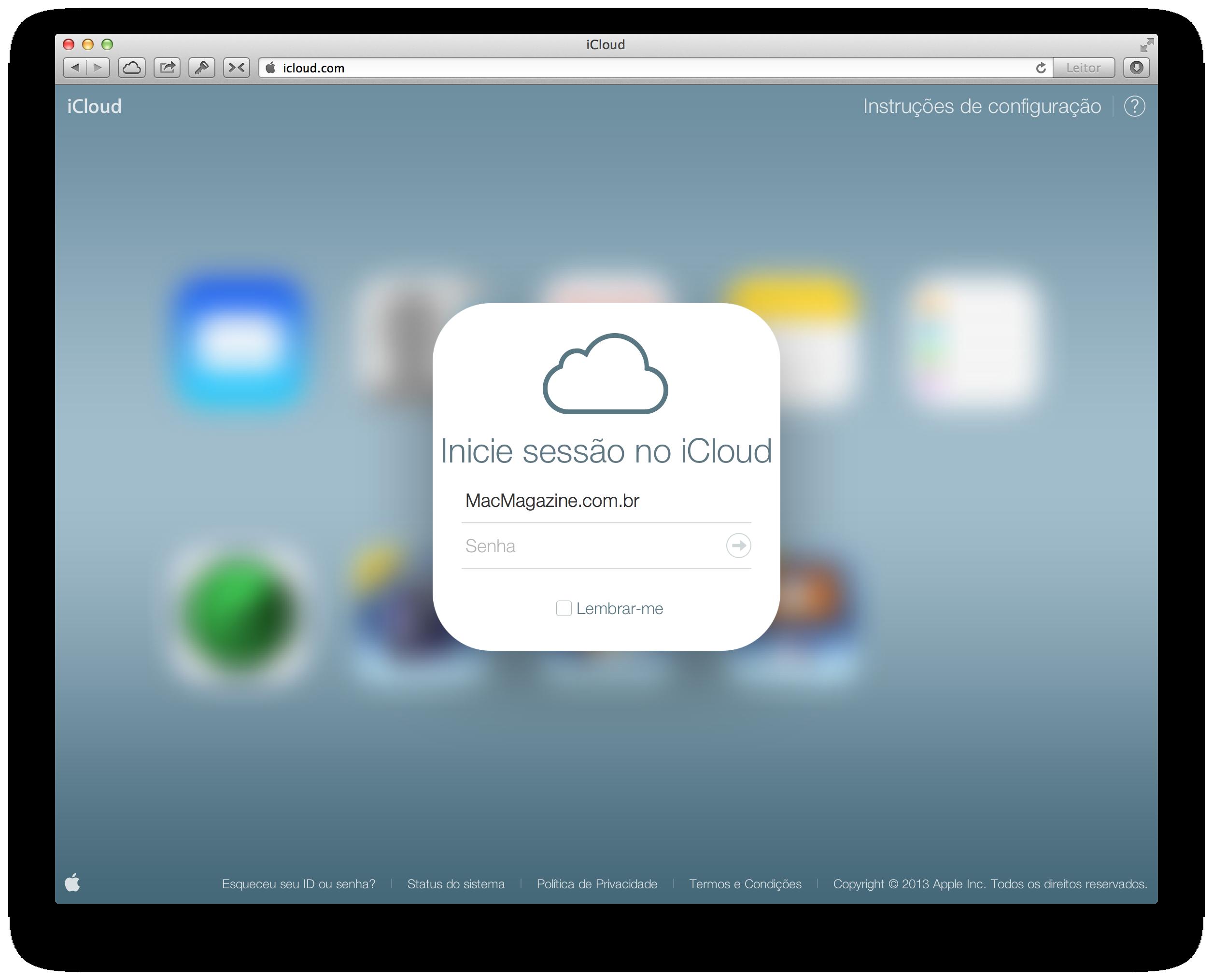 iCloud.com com novo visual