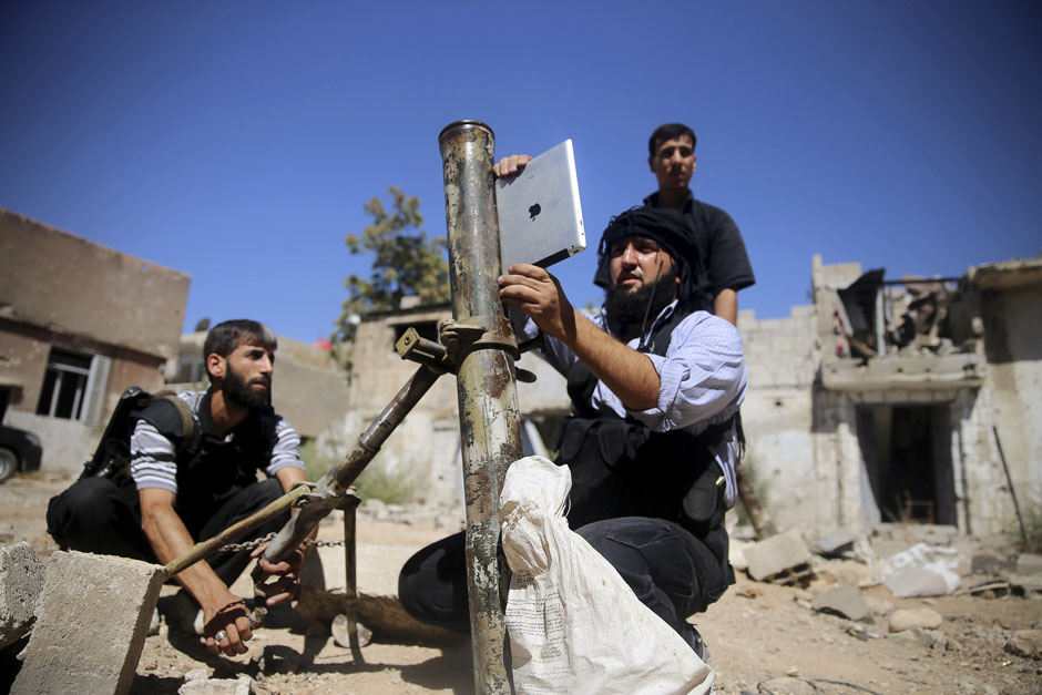 iPad sendo usado por rebeldes na Síria