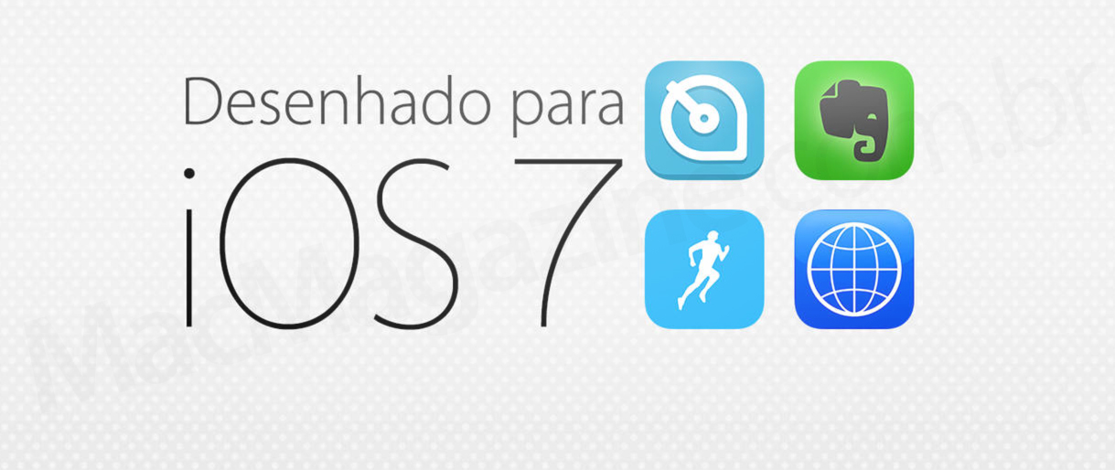 Apps desenhados para o iOS 7