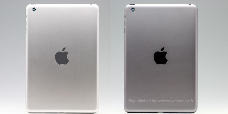 Suposto iPad mini na cor cinza espacial