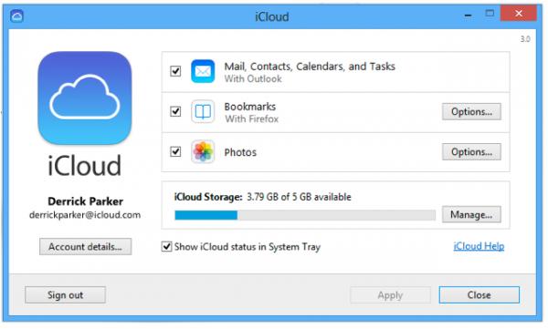 ↪ Apple libera nova versão do painel de controle do iCloud para usuários de Windows