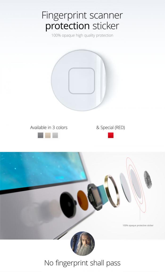 Adesivo contra o uso do Touch ID