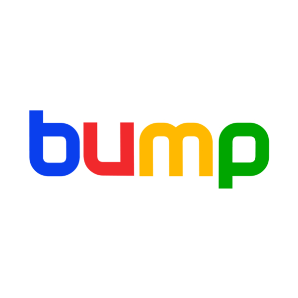 Logo do Bump no estilo Google