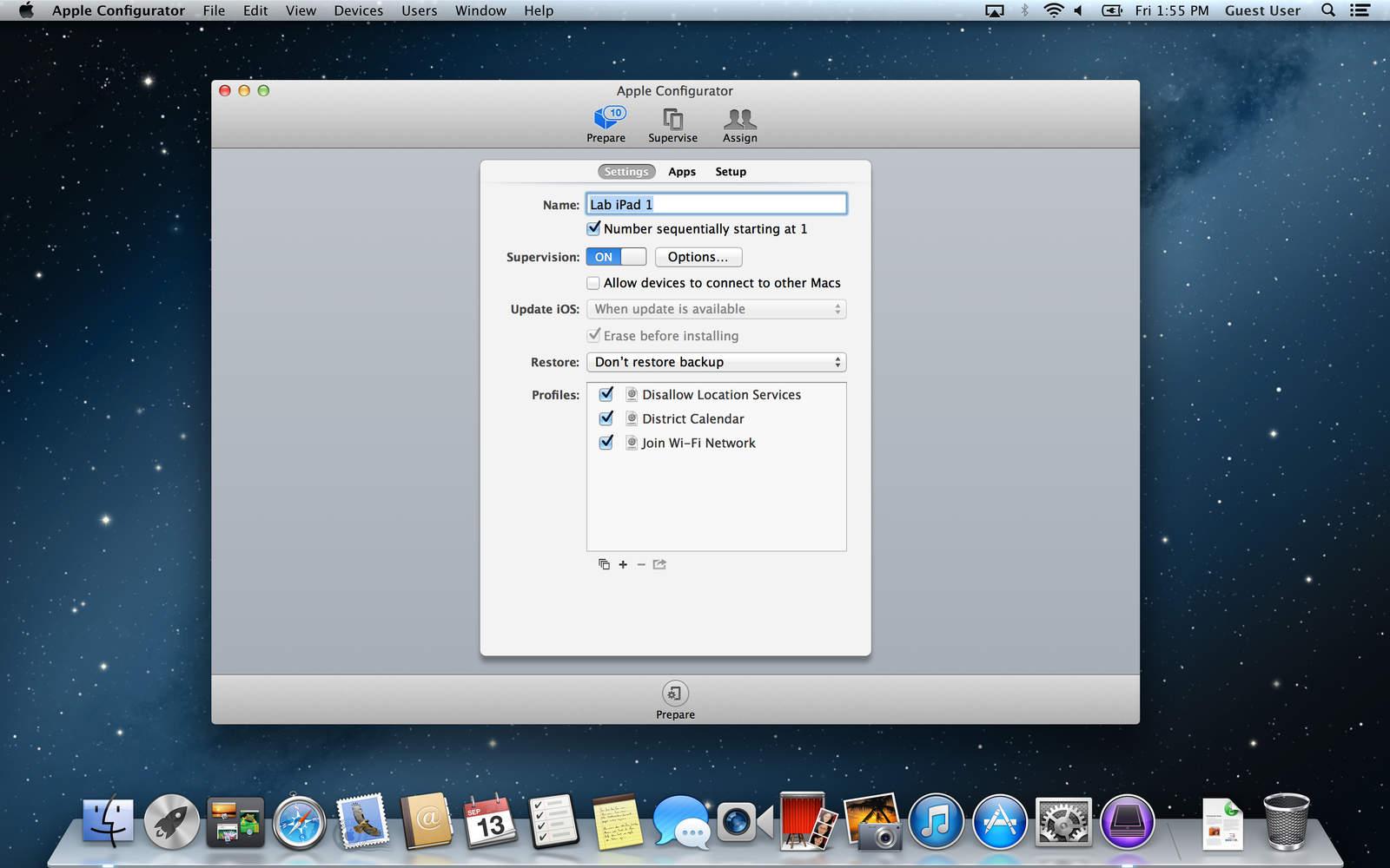 Apple Configurator - OS X