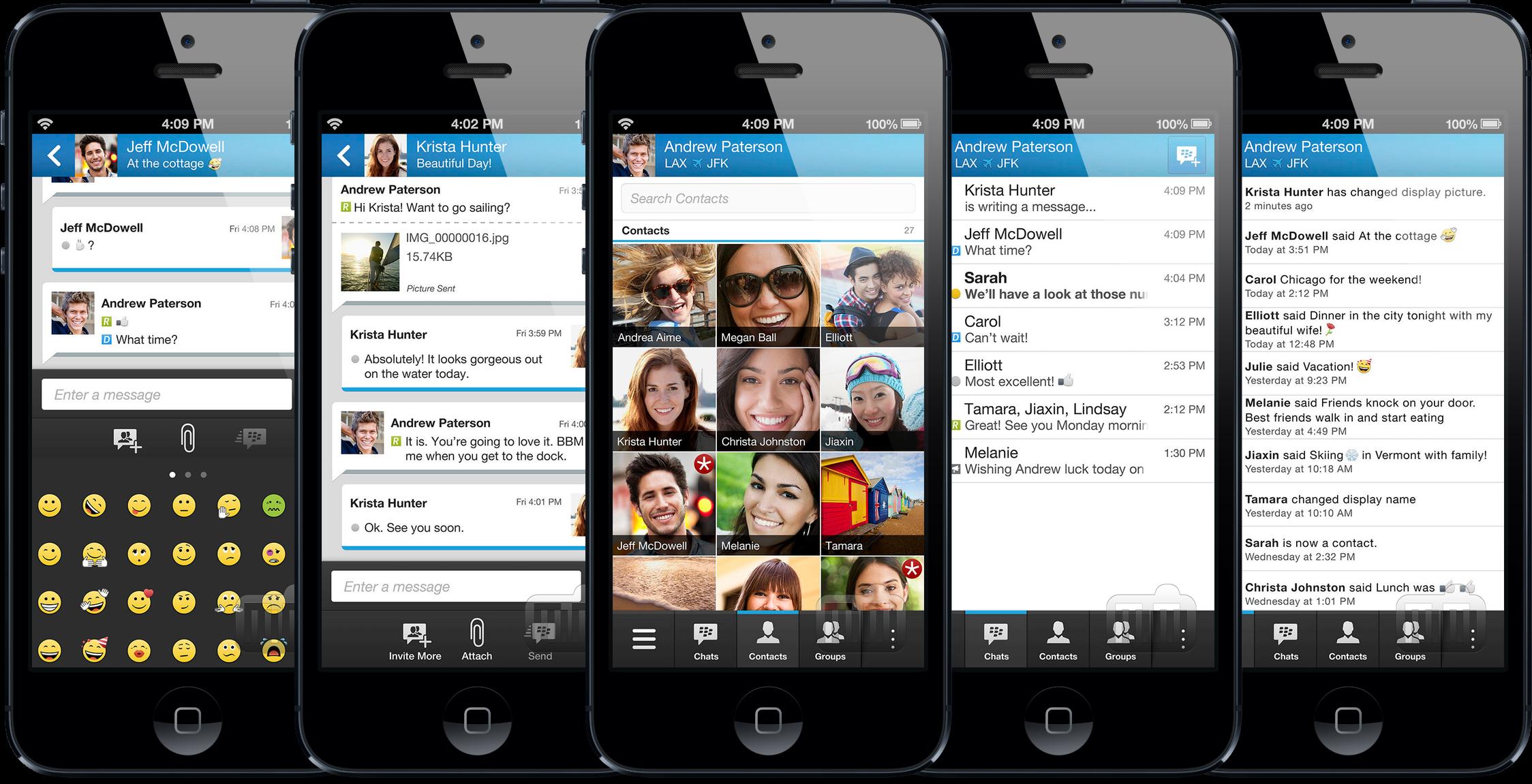 App BBM para iPhones