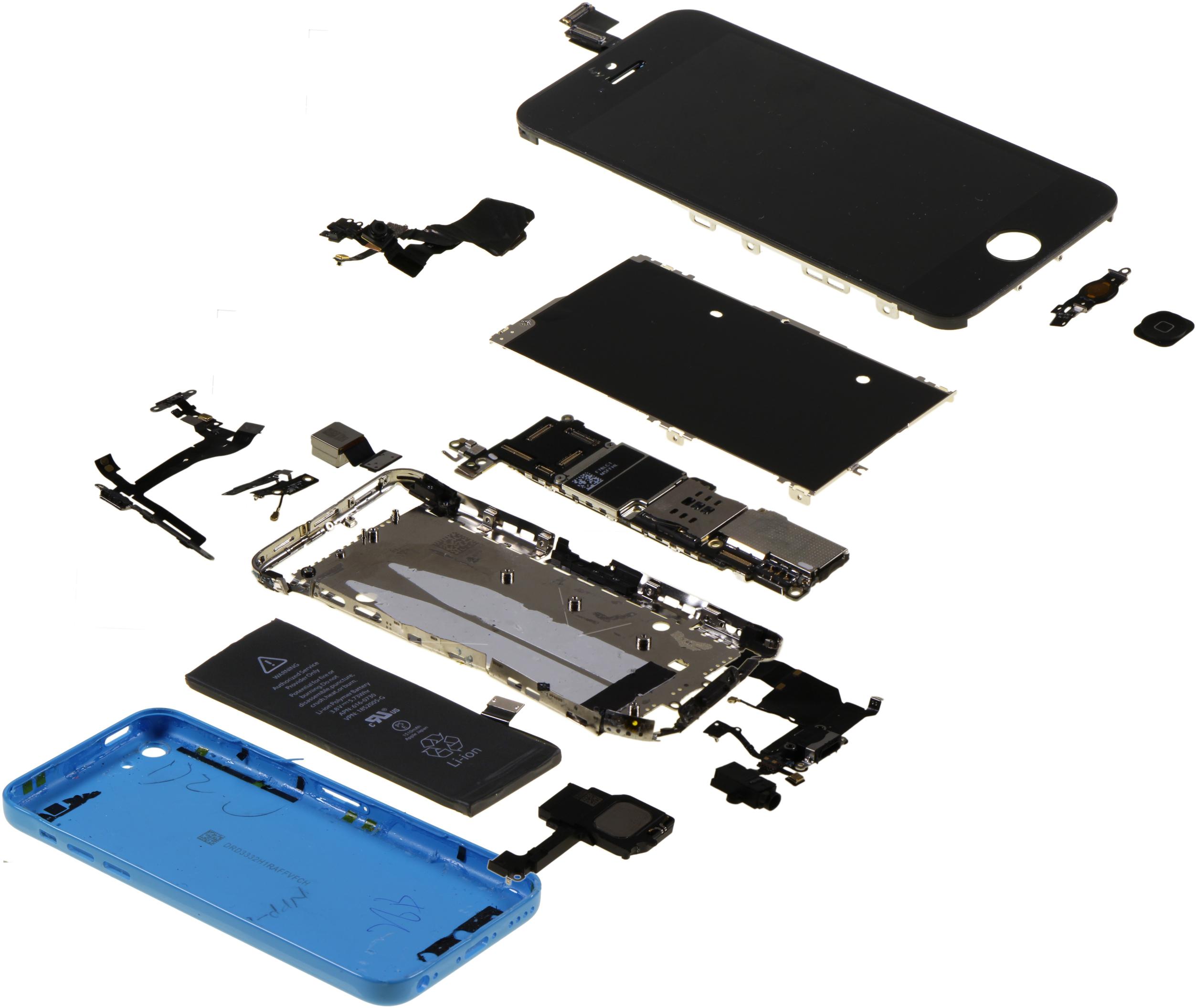iPhone 5c desmontado pela IHS
