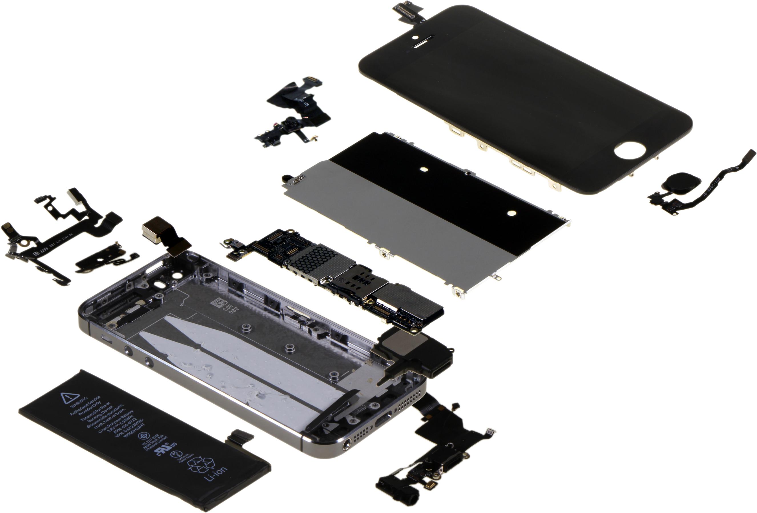 iPhone 5s desmontado pela IHS