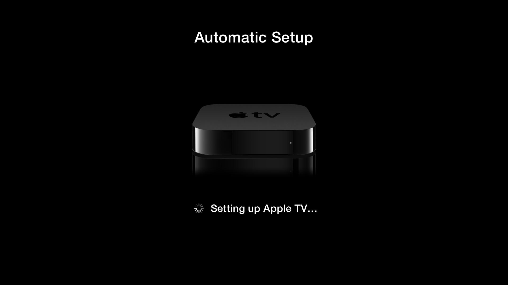 Configuração automática de Apple TVs