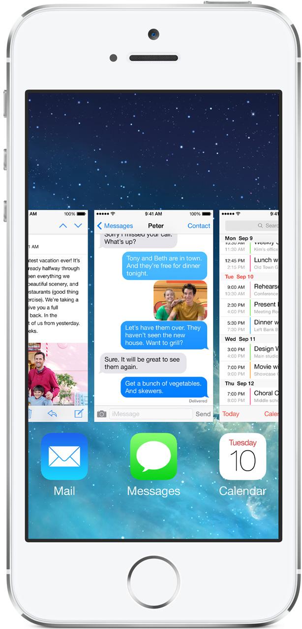 Multitarefa do iOS 7