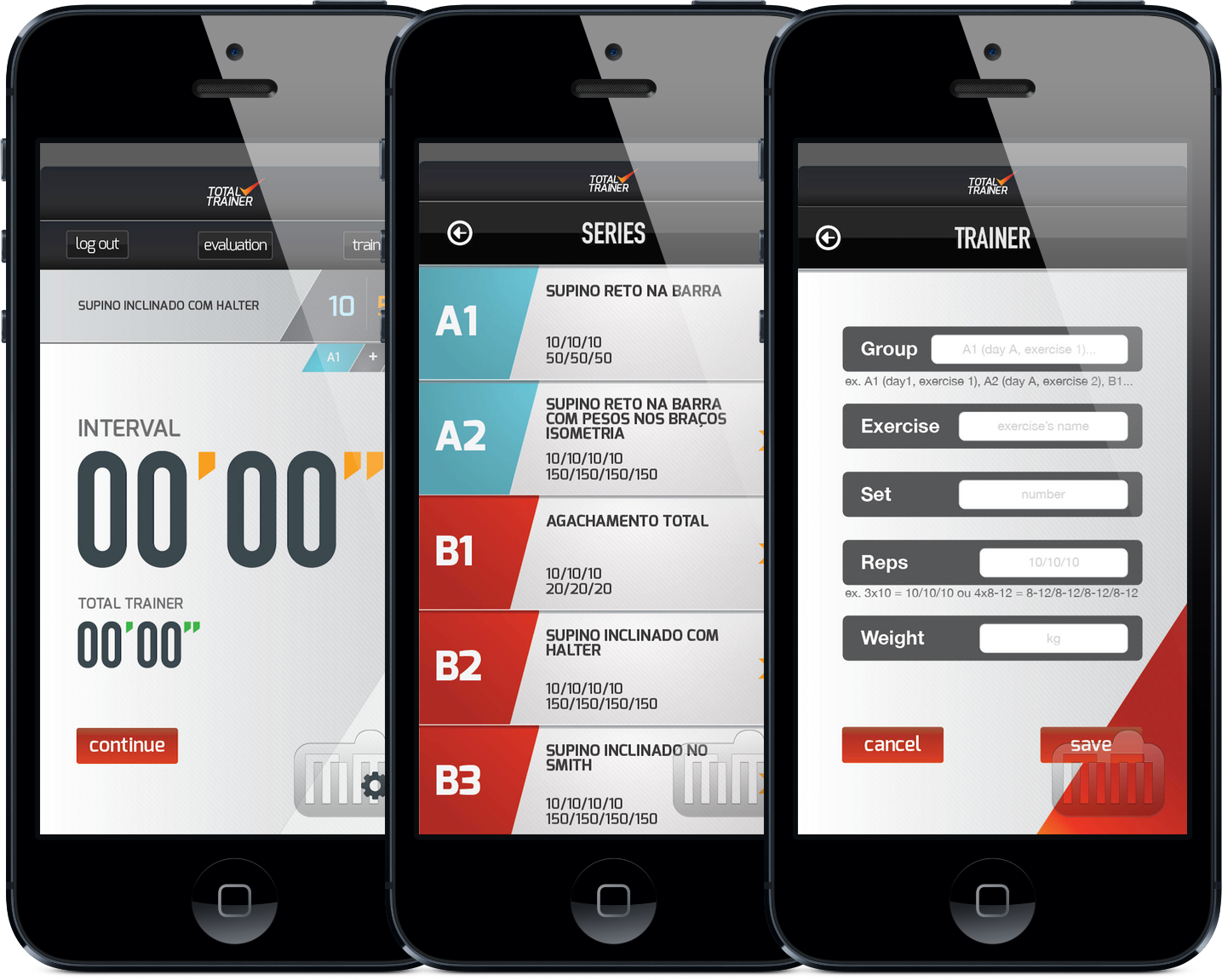 App TotalTrainer para iPhones/iPods touch