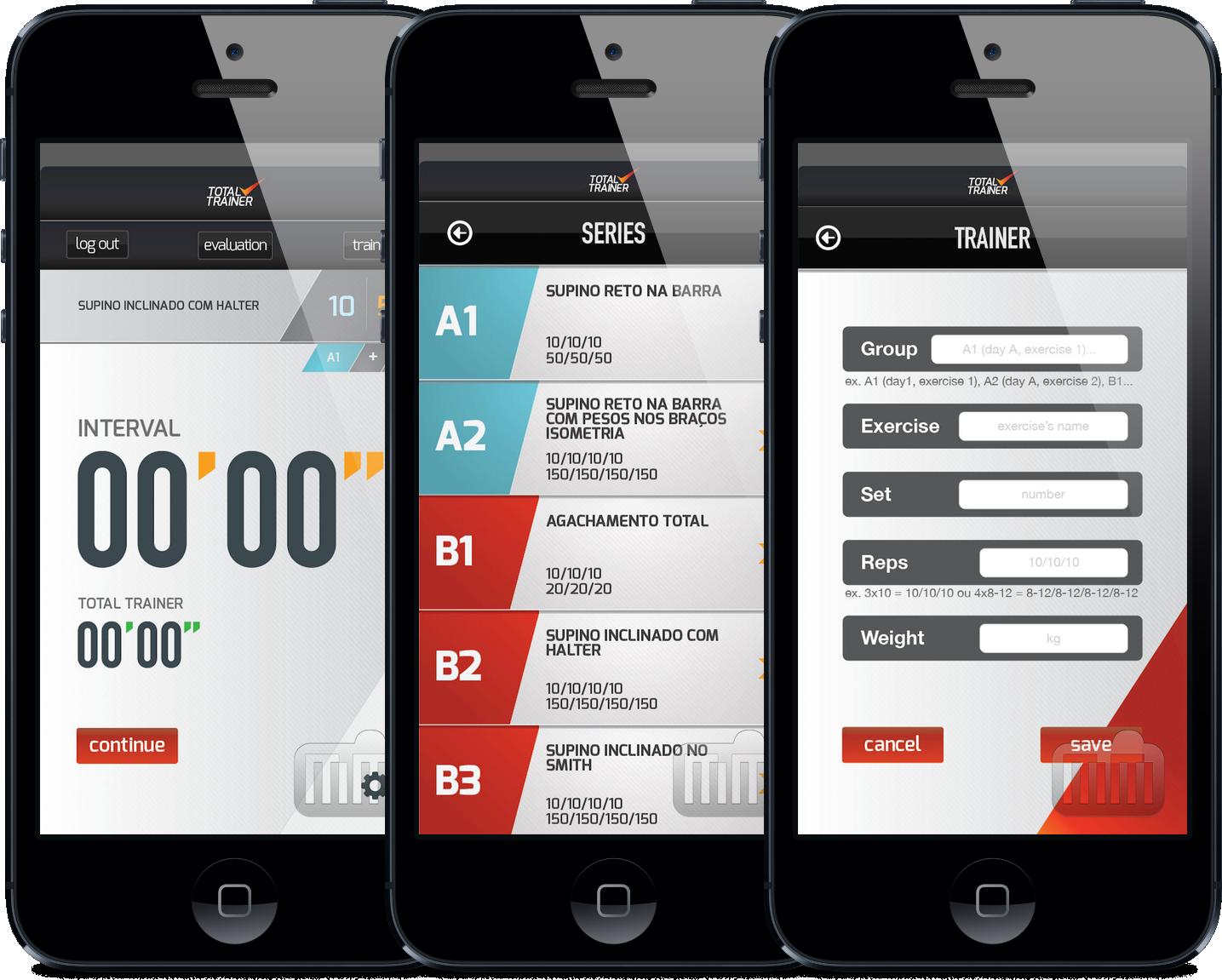 App TotalTrainer para iPhones/iPods touch