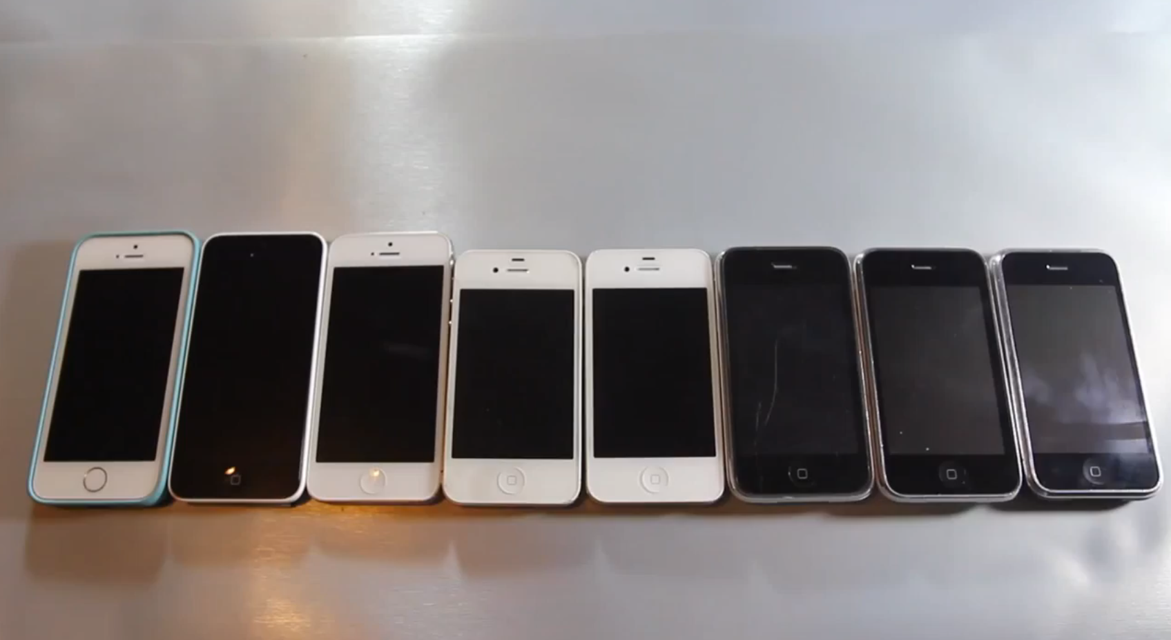 Vídeo comparando a performance de iPhones