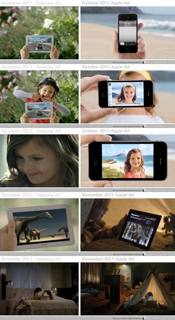 Comparativo de comerciais - iPad e GALAXY Tab