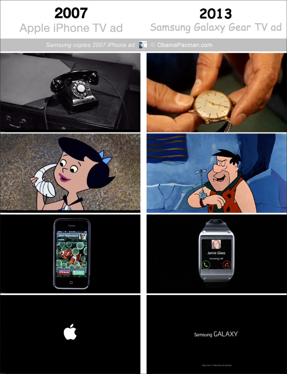 Comparativo de comerciais - iPhone e GALAXY Gear