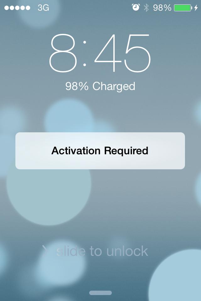 Falha na ativação de um iPhone (iOS 7 beta 6)