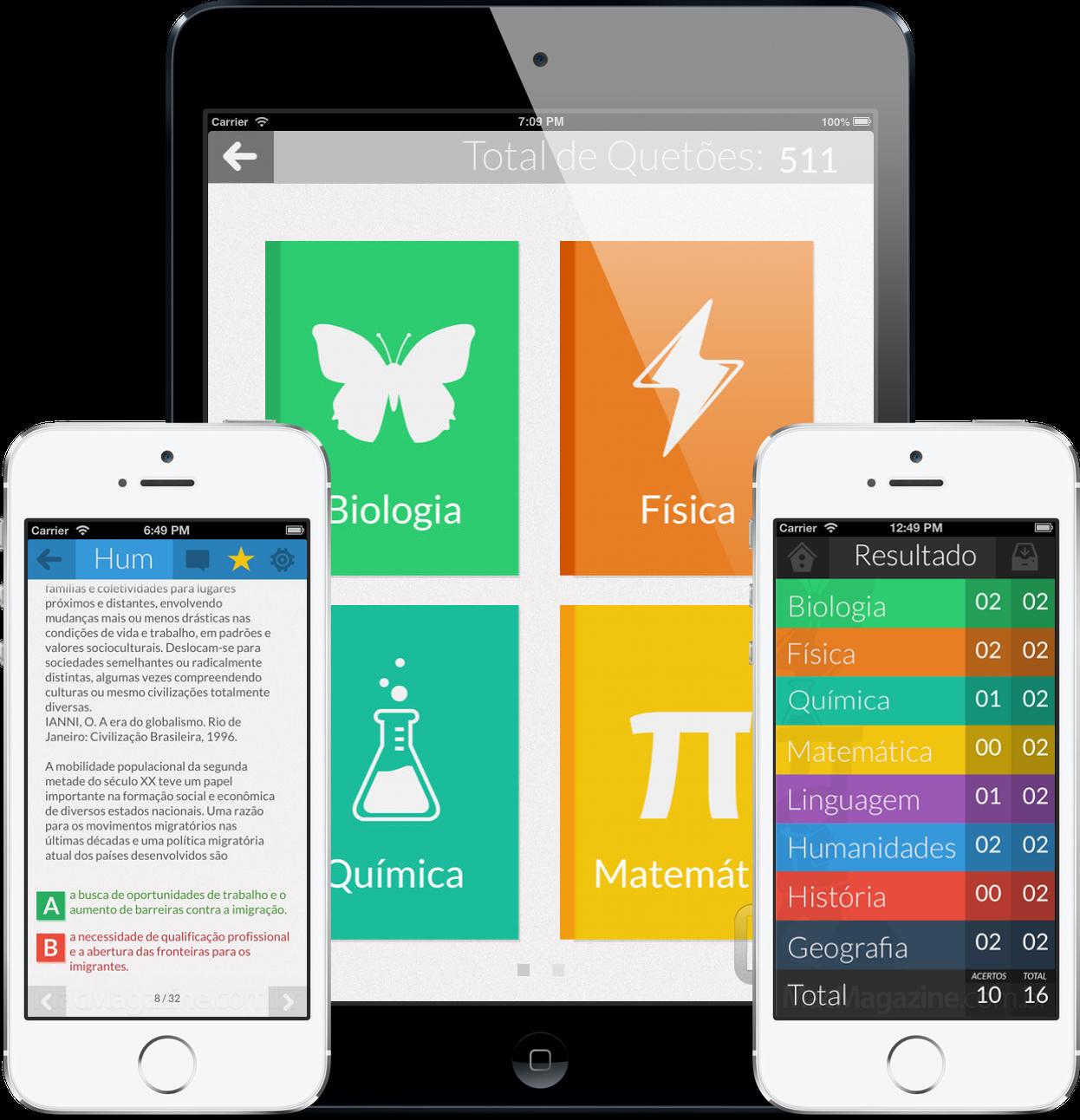 App Passei! ENEM para iOS