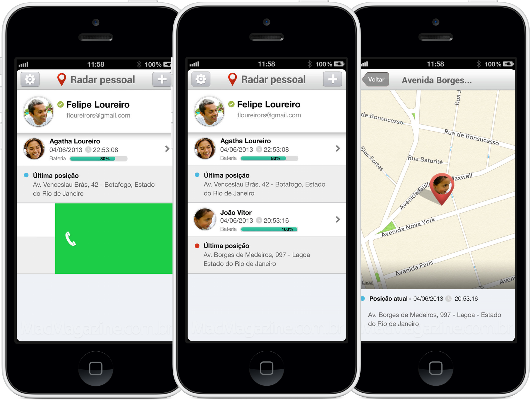 App Radar Pessoal e Corporativo para iPhones/iPods touch