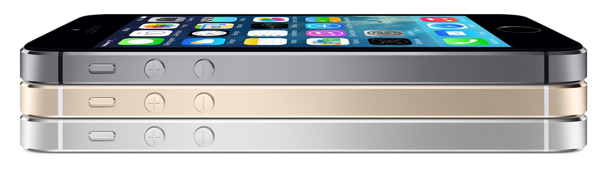 iPhones 5s deitados