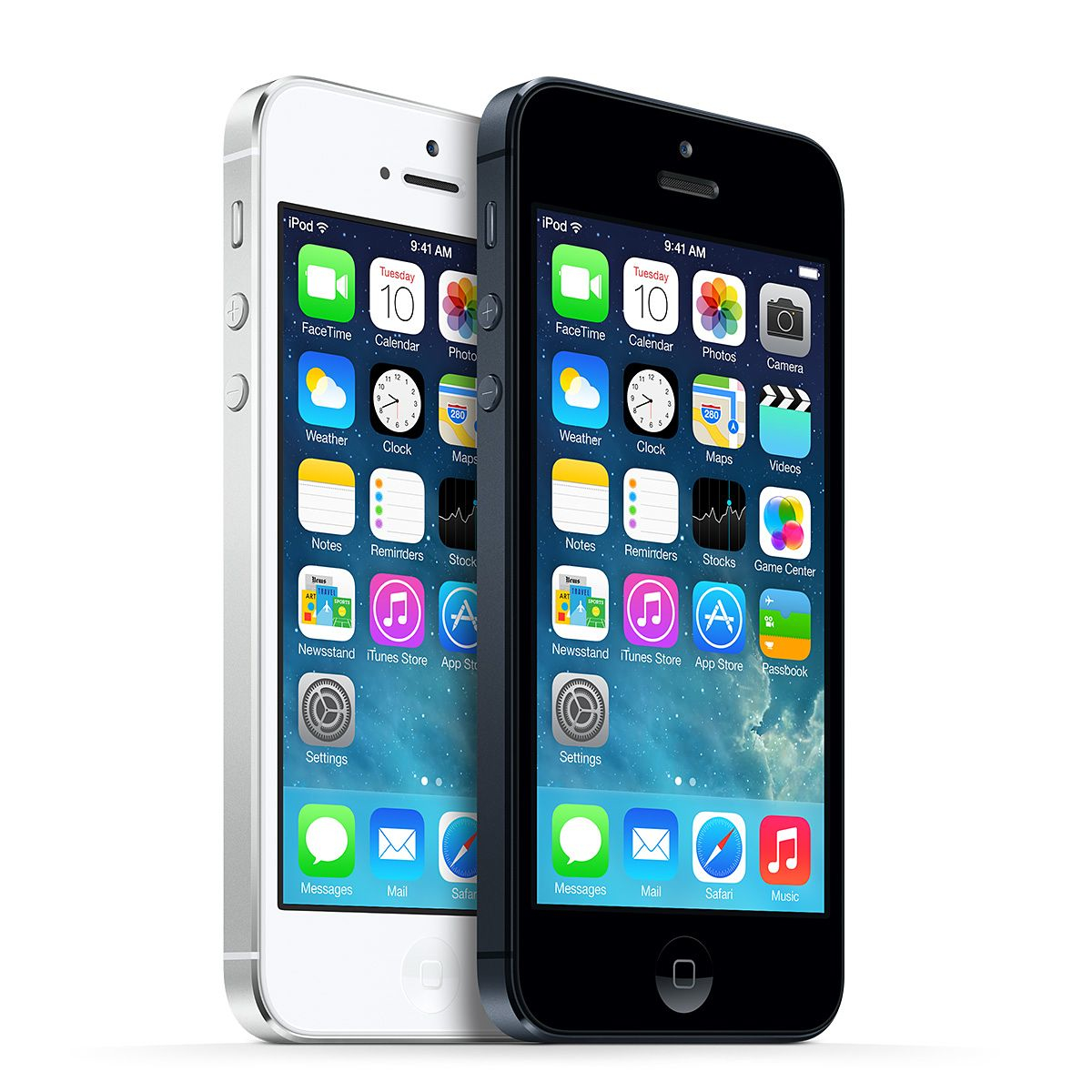 iPhones 5 em pé