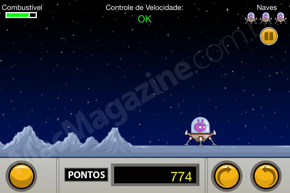 Jogo ET Weird in Space Lander para iOS