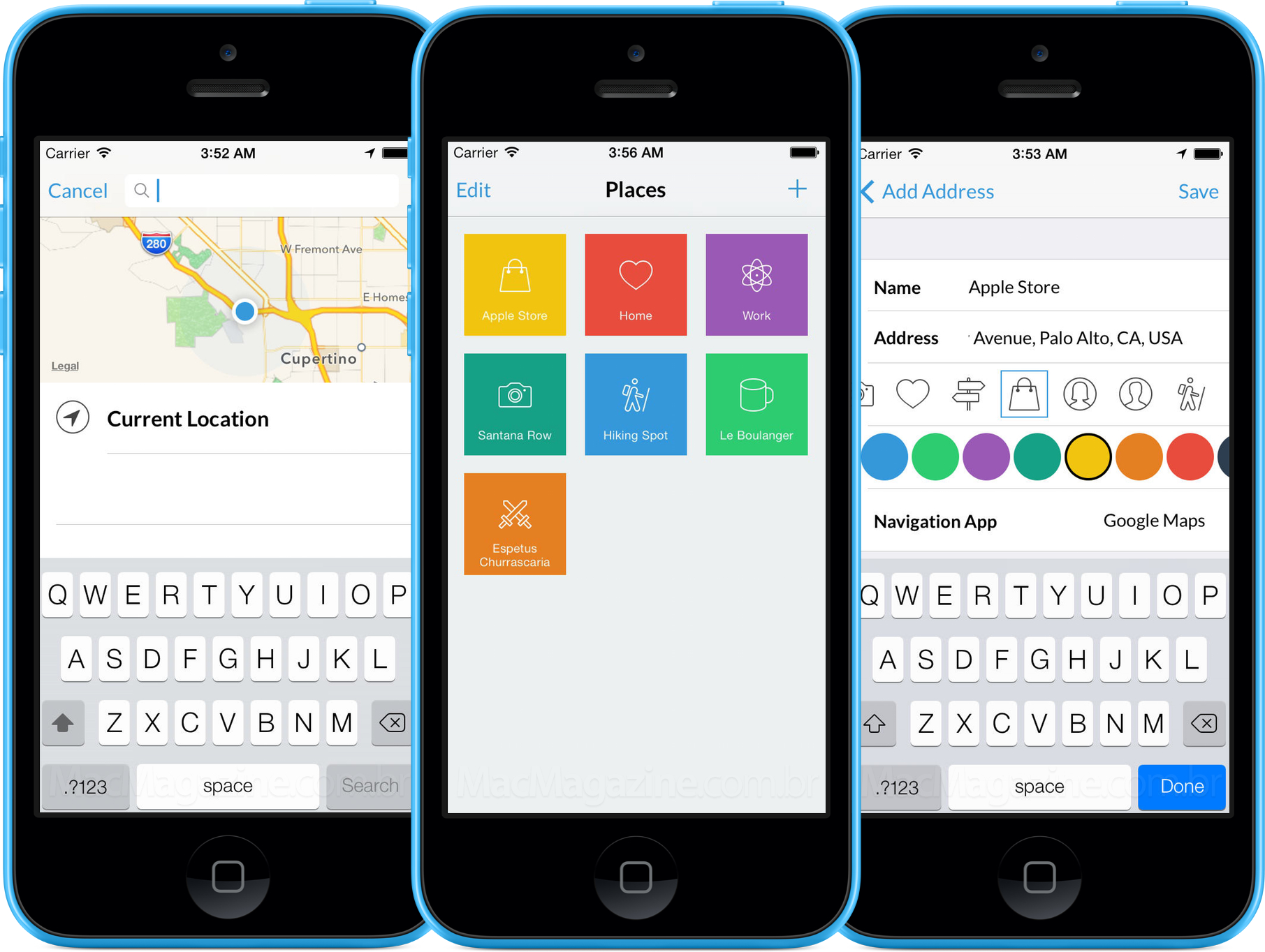 App Everyday Places para iPhones/iPods touch