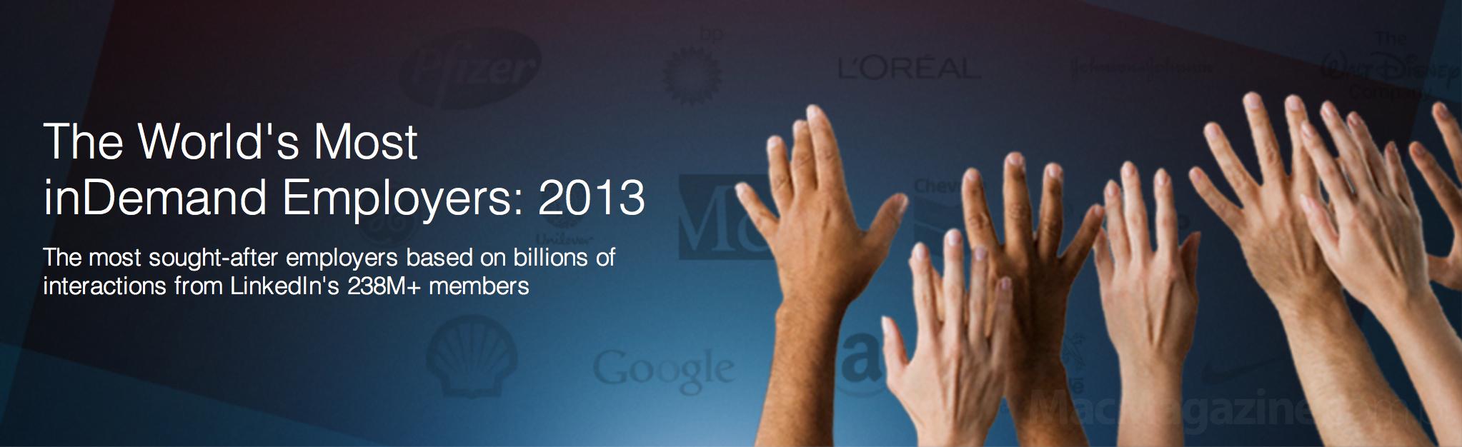 Ranking 2013 do LinkedIn
