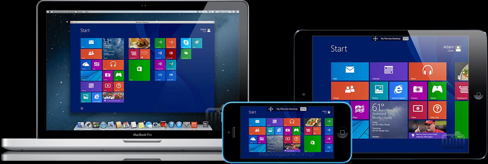 Microsoft Remote Desktop em Mac, iPhone e iPad